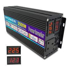 2500w/5000w power inverter caravan converter DC 12v to AC 230v camping travel
