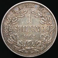 1892 | South Africa 1 Shilling | Silver | Coins | KM Coins