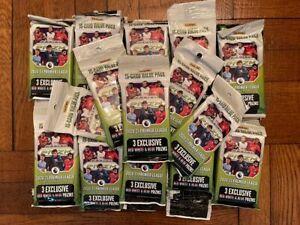 Panini Prizm 2020-21 Premier League Soccer Fat Pack Red White Blue 55 PACKS