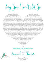 Personalised song lyrics heart print - any song! first dance / wedding