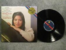 33 RPM LP Record Camille Saint-Saens Cecile Licad 1984 CBS Masterworks IM 39153