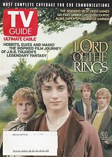 TV GUIDE Scottsdale Edition December 2001 Tolkien Lord of the Rings Hobbits