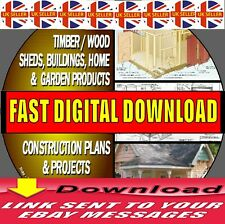 1000+ DIY WOOD PLANS & PROJECTS HOUSES SHEDS WOODEN BUILDINGS DIGITAL DOWNLOAD