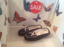 Lovely Ladies Blue Moccasin Slippers, Size 8 New Shop Clearance