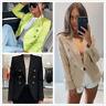 Womens Long Sleeve Slim Blazer Suit Coat OL Work Office Formal Jacket Outwear