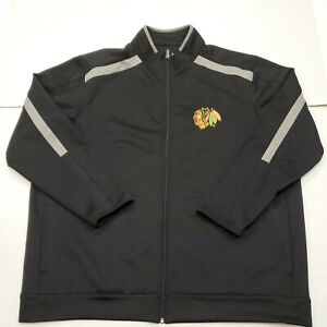 NWOT Chicago Blackhawks NHL Antigua Black Full Zip Sweatshirt Jacket 3XL New