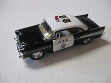 1:40 SCALE KINSMART '57 CHEVY BEL AIR POLICE CAR PULLBACK W/O BOX