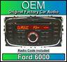 Ford 6000 CD player, Ford S-Max car stereo headunit with Radio Code
