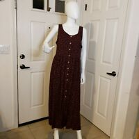 Vintage carole little dress Black with red floral size 14