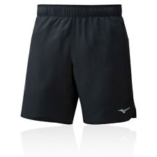 Mizuno Mens Core 7.5 2in1 Short - Black Sports Running Gym Breathable Reflective