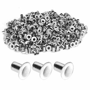 500Pcs Brass Eyelets Colorful Grommets Kit For Cloth Shoes Bag DIY Craft White
