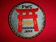 US Navy PWC SEABEES Construction Gorup At YOKOSUKA JAPAN Patch