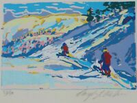 Vintage Original Serigraph of Skiers by Daryl Walker Listed