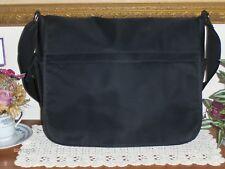 Emporio Armani Black Nylon Messenger Bag Unisex Cross Body Tote Brief Case