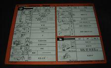 Inspektionsblatt Toyota Tercel Typ AL 20 21 25 Werkstatt Service Blatt 08/1985