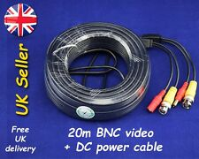 New 20M BNC Video DC Power Cable Lead For CCTV Camera and DVR
