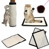 Handmade Home Protection Sisal Kitten Scratching Pad Cat Training Board Mat Toys