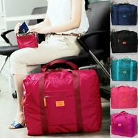 Portable Women Men Foldable Travel Storage Luggage Big Hand Shoulder Duffle Bag