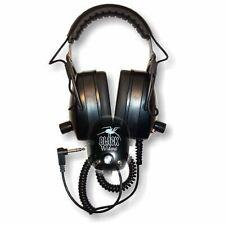 "DetectorPro Black Widow Headphoneswith 1/4"" Angle Plug for Metal Detector"