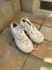Spring Court — High Top Classic White Canvas Tennis Shoe. 43