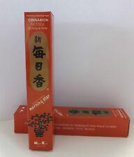 50 Stk japanische Räucherstäbchen incense sticks mit Keramikteller Cinnemon Zimt