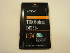 TDK PC Card Modem Fax 28.8 Kbps V.34 Black Flash DF2814C-07A