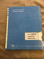 Tektronix 3T77 Sampling Sweep Unit Instruction Manual
