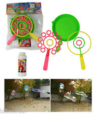 Big Bubble Maker Wand Rings Toy Non-Tonix Solution Kit Triple Giant Soap Bubbles