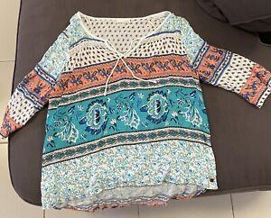 Roxy Ladies Size S 3/4 Sleeve Top