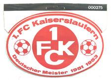 1. FC Kaiserslautern Aufkleber Logo Bundesliga Mönchengladbach Fussball #1352