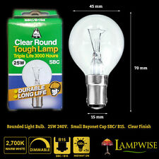 X5 Bell 25w SBC B15d Golf Ball Bulb 25 Watts Clear