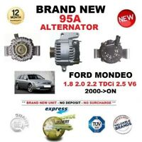 FOR FORD MONDEO 1.8 2.0 2.2 TDCi 2.5 V6 2000-ON NEW 95A ALTERNATOR EO QUALITY