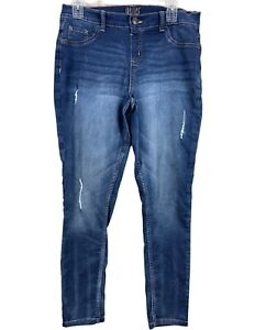 Justice Girl's Justice Jeans Size 16 Plus Mid Rise Jegging Medium Wash Justice
