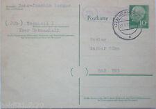 bund, landpoststempel bescheid über hermeskeil, 1958 (19826)