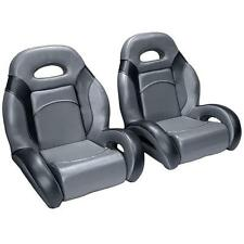 (Pair) Bass Boat Bucket Seats in Charcoal and Black