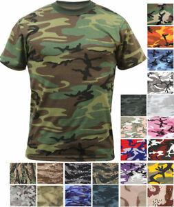 SALE!!!  Camo T-Shirt Tactical Tee Short Sleeve Military Army ROTHCO
