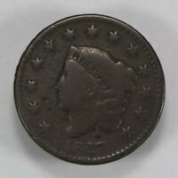 1827 1c CORONET HEAD LARGE CENT, GOOD DETAILS *BETTER DATE COIN* LOT#V694