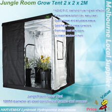 Jungle Room Hydroponic Grow Tent 2x2x2M Heavy Duty Frame Diamond Mylar Inner & Hydroponic Grow Tents | eBay