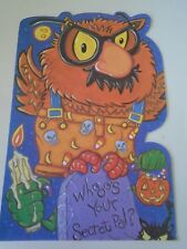 Whoo's Your Secret Pal Happy Halloween Card with Envelope