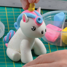 Make Your Own Unicorn Dough Model With Tools Clay Glitter Kids Creative Crafts