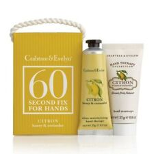 Crabtree & Evelyn Citron & Coriander 60 Sec. Fix Hand Therapy & Scrub 0.9oz New!