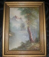"""ROGER BROWN, FRAMED MINI OIL PAINTING ON BOARD 6.5"""" x 8.5"""""""