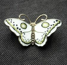 HROAR PRYDZ Enameled Sterling Butterfly Pin Norway