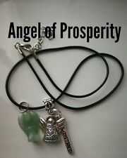 Code 227 PROSPERITY ANGEL Necklace charged n infused Aventurine abundance money