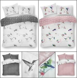 New HUMMING BIRD Duvet  Cover with Pillowcase Quilt Bedding Single Double King