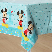 New Disney Mickey Mouse 1st Birthday Plastic Table Cover Party Supplies Decor