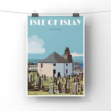 Islay Print, Islay Travel Poster Print, Bowmore, Islay photo, Scottish Print