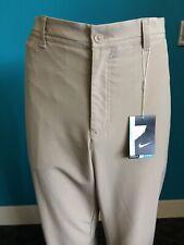Mens Beige Nike Golf Dri-Fit Trousers W36 L32 - NEW