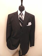Faconnable Italy Men's Surgeon Cuff Dual vents 3-btn Charcoal Gray Suit 42L 42 L