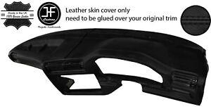 BLACK STITCH DASH DASHBOARD LEATHER SKIN COVER FITS BMW 3 SERIES E30 1981-1992
